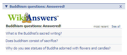 Buddhism Facebook app from WikiAnswers