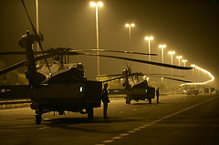 BUSH IN UAE (9  in CA) Tags: road bush near president arrival helicopters await closedoff sowaihan