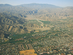 Above Palm Desert and Highway 74, Coachella Valley, California (cocoi_m) Tags: california coachellavalley aerialphotography palmdesert highway74 riversidecounty highway111 cookstreet santarosaranges palmstopineshighway