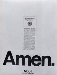 """Mobil ad. """"Amen."""" (tetetetempo) Tags: ad mobil advertisng"""