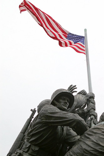 Iwo Jima -- Raising the Flags