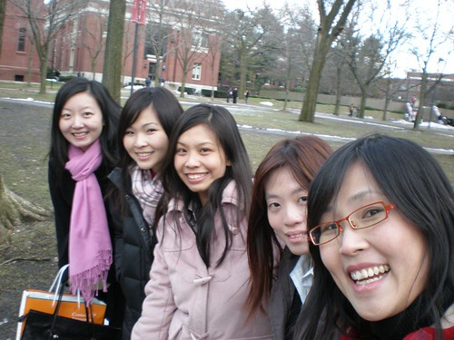 Ladies in Harvard Yard