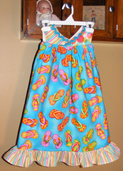 Flip Flop Sundress 4T (LilyWhitesParty) Tags: girl toddler handmade sewing flip flops sundress 4t