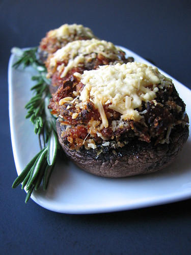 Sundried Tomato and Kalamata Olive Stuffed Mushrooms
