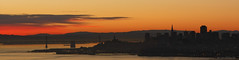 San Francisco - Downtown View (rajmtx) Tags: sanfrancisco california moon silhouette dawn long exposure downtown baybridge marinheadlands