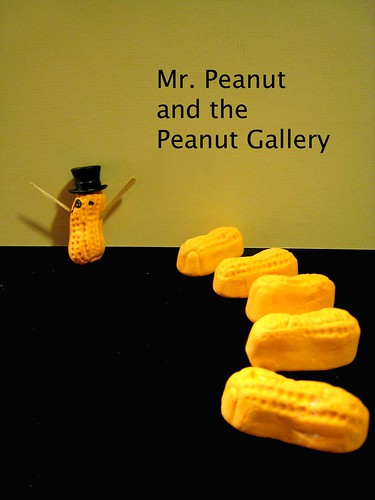 Mr. Peanut Plays to the Peanut Gallery