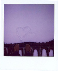 Snow Heart Polaroid