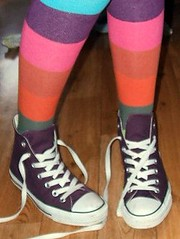 For Zenhe Minski (x_L.U.C.Y_x) Tags: pictures life pink blue orange white green love wow foot for star photo amazing cool fantastic shoes all toe purple floor lace stripes leg stripe funky trainers her clothes converse chuck allstar picnik laces stripy undone minski zenhe