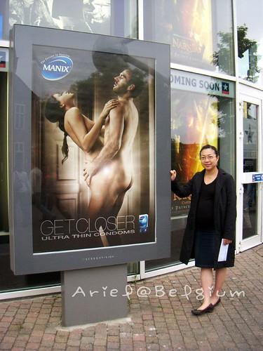 Brussels Kinepolis Theather - Condom Advertisement
