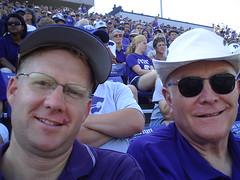 Wesley and Tom Fryer at the KSU football game