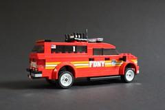 FDNY Battalion Chief 1 (sponki25) Tags: fdny battalion chief 1 gmc 2500 hd new york newyork nyc manhattan lego 100 duane street fire department feuerwehr einsatzleitwagen fahrzeug suv
