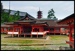 Itsukushima Shrine, Goju-no-to (Five-Storied Pagoda) and Senjokaku (One Thousand Tatami Hall), Miyajima, Honshu, Japan (ILYA GENKIN / GENKIN.ORG) Tags: wood old travel red building history japan horizontal architecture asian temple japanese worship asia faith religion buddhism landmark miyajima itsukushimashrine holy jp sacred spiritual buddhisttemple jinja edo vermilion jpn eastasia honshu fivestorypagoda senjokaku gojunoto easternreligion fivestoriedpagoda onethousandtatamihall