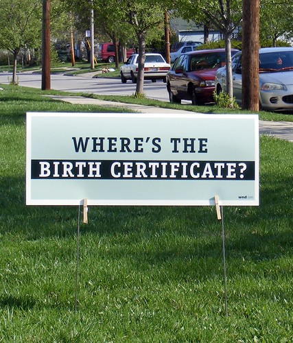 Where's the Birth Certificate?