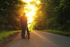 Riding off into the sunset... (Stuart Stevenson) Tags: sunset me bike selfie endoftheday canon50mm thanksforviewing canon5dmkii stuartstevenson summertimeuk stuartstevensonphotographyclydevalleyscotland sunsetsconvenientlyattheendoftheroadatthistimeofyear