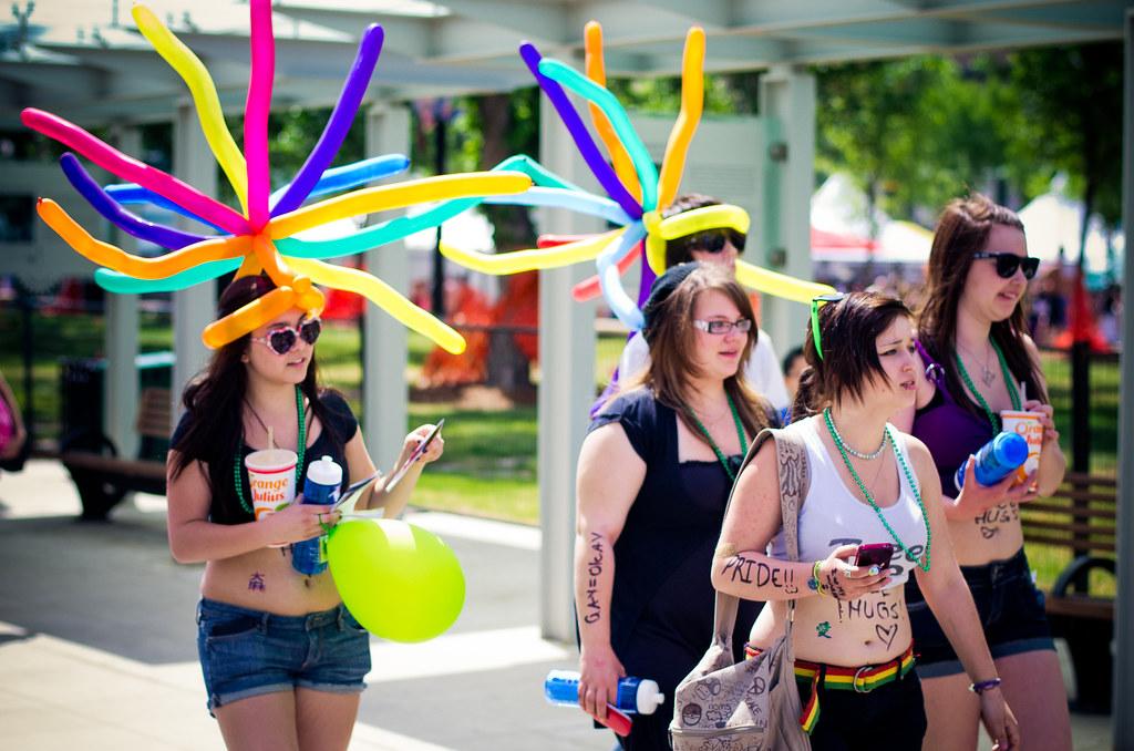 de863ba47b59a Funky Balloon Hats (Kurayba) Tags  gay girls canada up festival proud  lesbian out