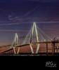 Ravenel Bridge, Charleston, SC 3/9/14 (APGougePhotography) Tags: bridge light sunset sc night clouds nikon south southcarolina charleston adobe nik topaz lightroom d600 adobelightroom denoise colorefexpro topazlabs nikond600 topazdenoise