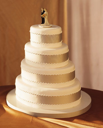 Wedding Cake With Ribbon
