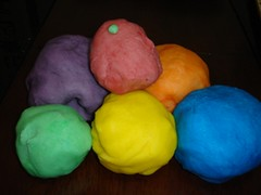 playdough pile