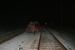 I Don't See A Crossing - do you? (M.C. Martin) Tags: railroad columbus train ns oh oops wreck busted 130am carwreck thinktwice my1st trainvscar 102007 lockbourne notacrossing