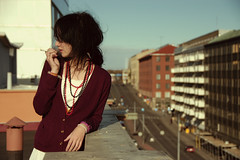 rooftops and railways (monofobia) Tags: morning rooftop turku cigarette pearls susie isawyoufirst