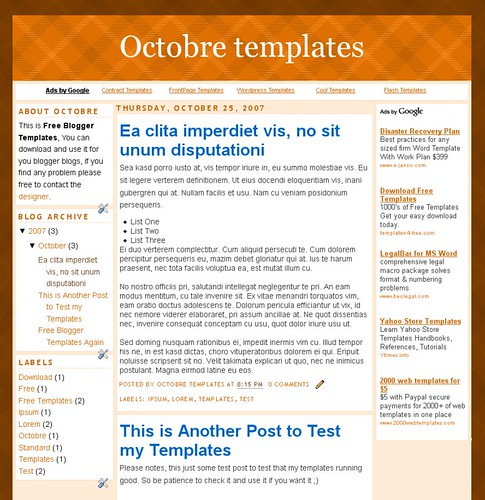 Octobre Templates Screenshot