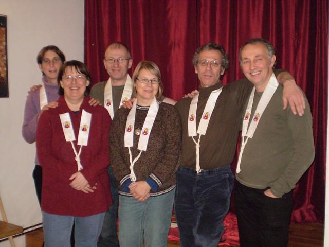 Berlin Order Members welcome Dharmadakini (centre)