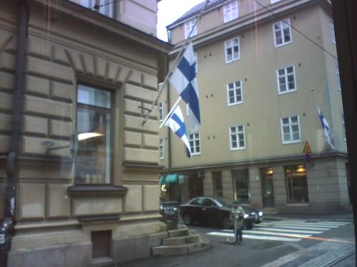 Banderas a media asta en Finlandia
