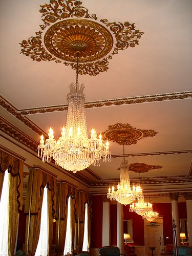 Chandeliers in Dublin Castle
