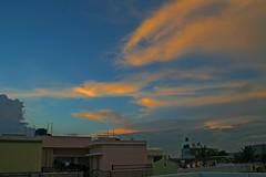 Sunset over Bangalore (Aiel) Tags: sunset india skyscape cityscape bangalore streaks cluds