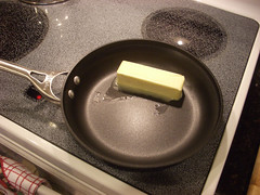 "Melt a stick of butter in a 9-10"" skillet (cosmosjon) Tags: food cooking kitchen recipe dessert baking upsidedown sweet stove apples applepie tartin tartetartin"