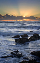 Earth, sea, and sky (copeg) Tags: california winter sea sky beach clouds coast bravo san surf waves state earth central sunrays mateo pescadero godrays naturesfinest mywinners