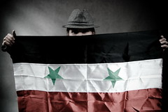 hatman (Sakuto) Tags: red man black green eye hat studio star model hands hand head flag pipe advertisement syria nationalist potrait greenstar