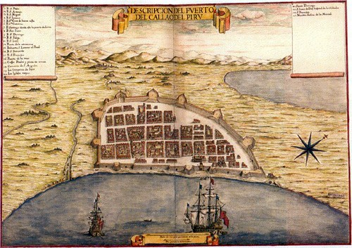 Callao in the late 1600s, early 1700s