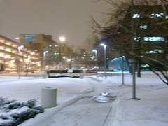 More night photography (SquidRNA) Tags: snow chicago uic