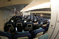 Cathay Pacific Economy Class (Ch.H) Tags: china fish paris eye los pacific angeles flight cargo class landing hong kong southern 777 economy cathay 747 klax vhhh 747467