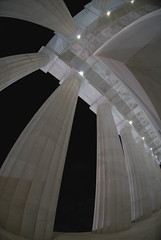 Lincoln Memorial Colonnade (bbmcder94) Tags: architecture washingtondc fisheye nationalmall lincolnmemorial dcist colonnade nightimage skyarchitecture d80 youvsthebest