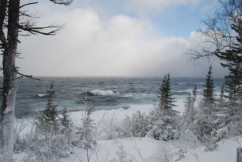 up of michigan winter lake superior