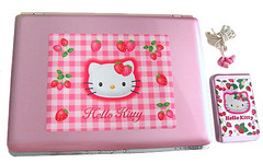 Hello Kitty Vaio Strawberry Laptop (pkoceres) Tags: pink japan computer strawberry hellokitty laptop sanrio electronics headphones harddrive modified externalharddrive vaio earbuds westerndigital      hellokittystrawberry