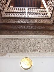 Internal decoration at Museum of Marrakech (sawaddeedave) Tags: el morocco marrakech fna jamaa