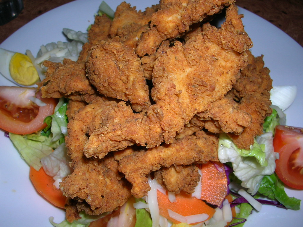 Cajun fried chicken salad - revisited
