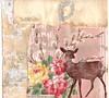 Fawn-tastic! - bottom detail (ms_mod) Tags: pink original wallpaper art collage vintage paper print design handmade antique mixedmedia deer fawn dreams block blockprint etsy dollface handprinted handcarved dollfacedesign