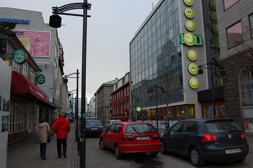 Reykjavikのメインストリート