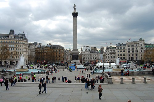 Trafalgar Square - as I exited the fantastic National Gallery