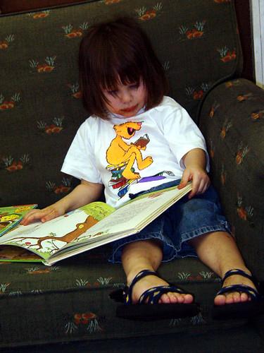 Laurel reading at Edward McKay