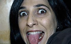 Aytana (dithern) Tags: funny retrato ojos lengua sorpresa inslito