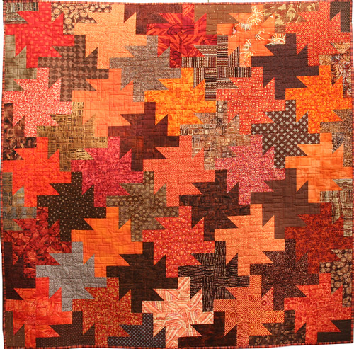 Browns quilt: full shot