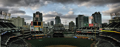 Petco Park Panorama HDR (peasap) Tags: city blue sky game sports field skyline clouds canon rockies evening team cityscape sandiego baseball crane stadium padres april condos won hdr petco pads petcopark coloradorockies poweshot g9 supershot americasfinestcity platinumphoto anawesomeshot impressedbeauty superbmasterpiece diamondclassphotographer goldstaraward