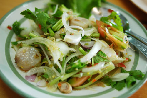 A Thai-style salad of scallops, Rayong