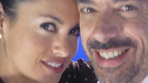 Renata e Ricardo, já no set de filmagens