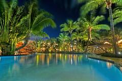 The Inn at Key West (MDSimages.com) Tags: lighting pool nikon florida palmtrees keywest hdr floridakeys d300 poollight nightlighting colorsofthenight mdsimages